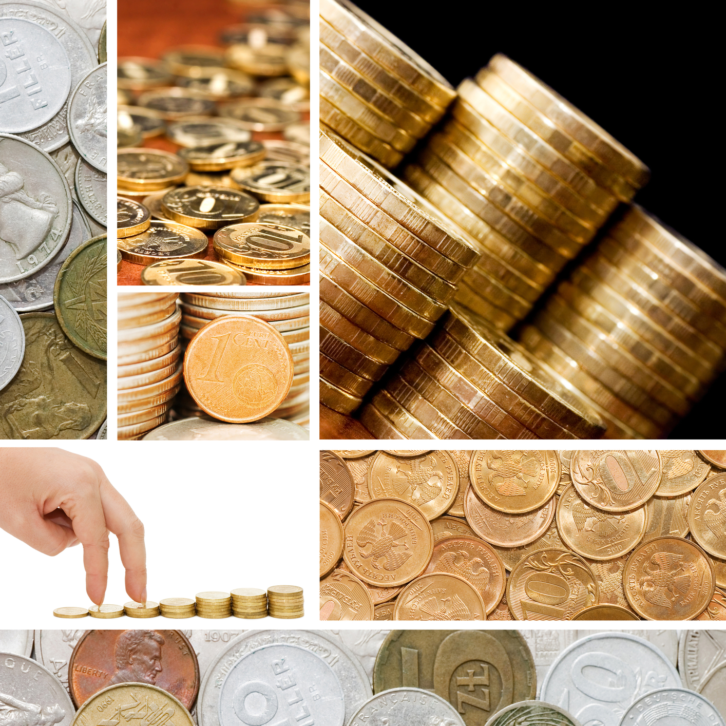 sølv og guld i mønter